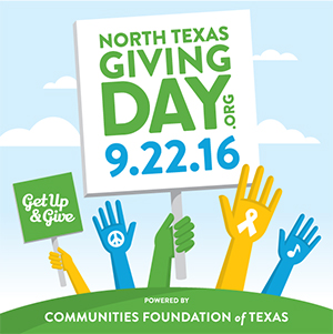 North Texas Giving Day, 9/22/2016